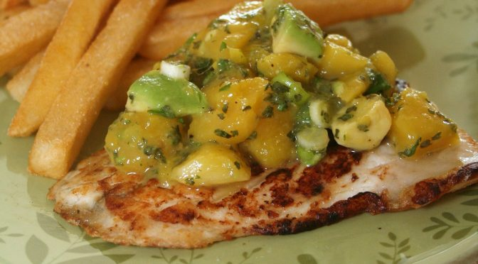 Pan Fried Barramundi with Mango Salsa